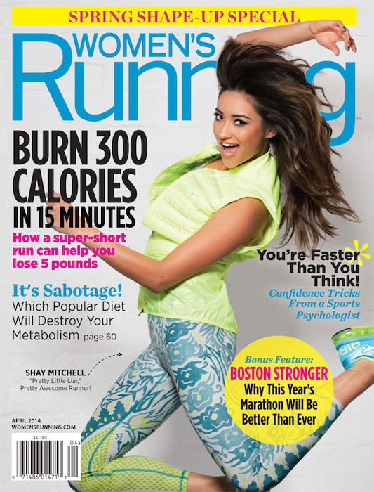 Shay Mitchell, Running Magazine