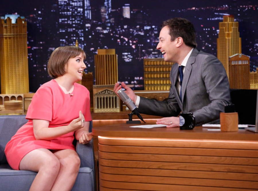 Lena Dunham, Jimmy Fallon, Tonight Show