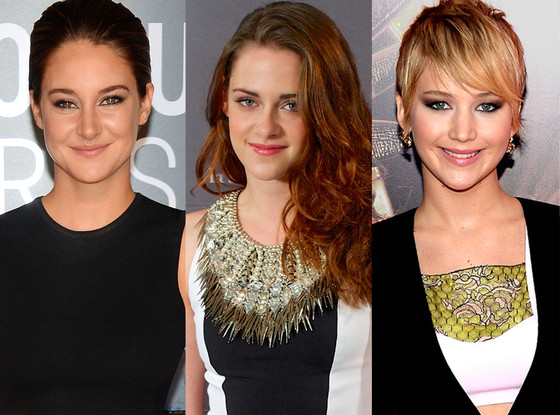 Shailene Woodley, Kristen Stewart, Jennifer Lawrence