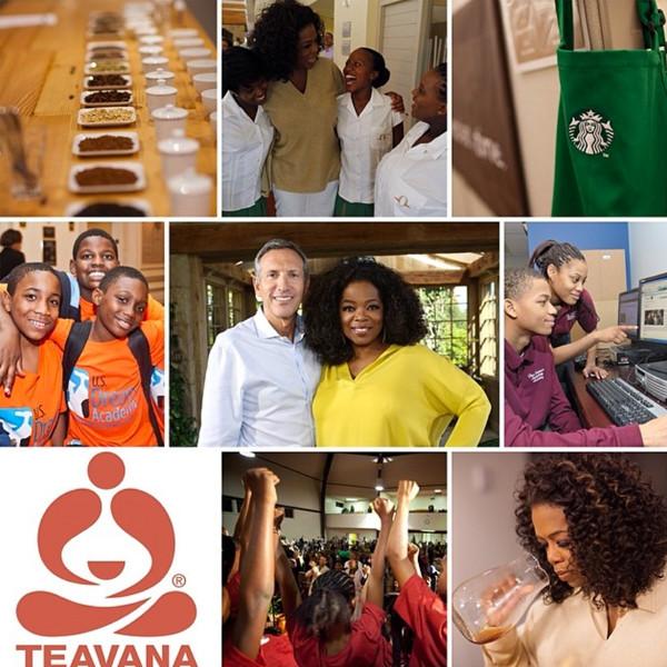 Oprah, Starbucks, Instagram