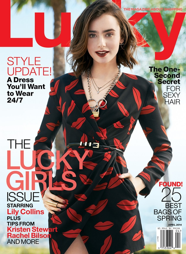 Lily Collins, Lucky Magazine