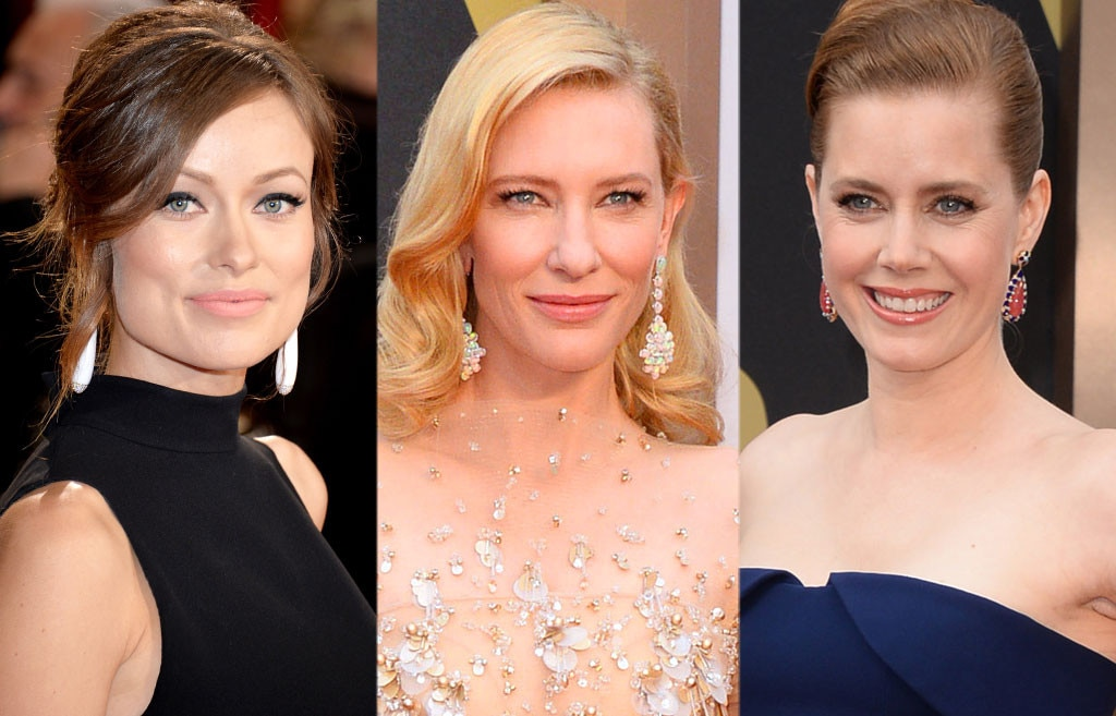 Oscars, Big Drop Earrings, Olivia Wilde, Cate Blanchett, Amy Adams