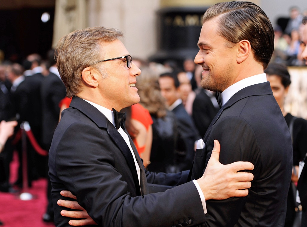 Christoph Waltz, Leonardo DiCaprio, Oscars, Candid