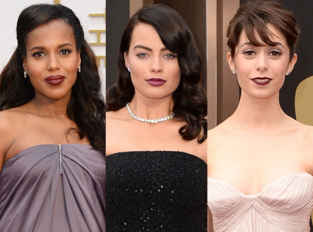 Oscars, Dark Lips, Kerry Washington, Margot Robbie, Cristin Milioti