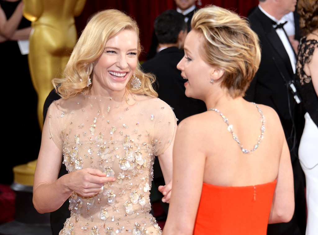 Cate Blanchett, Jennifer Lawrence, Oscars, Candid