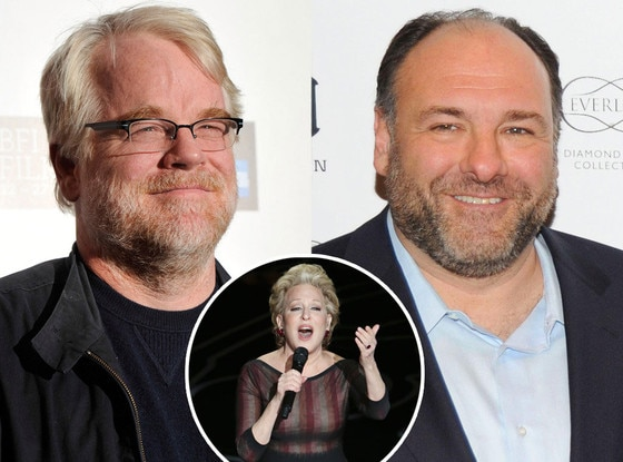 Phillip Seymour Hoffman, James Gandolfini, Bette Midler