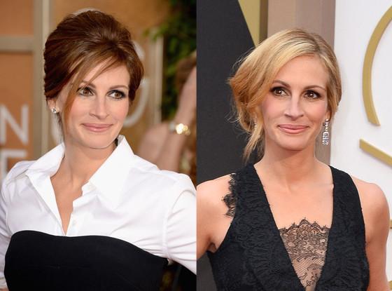 Julia Roberts, Golden Globes, Oscars 2014, Hair