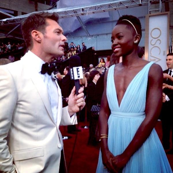 Ryan Seacrest, Lupita Nyong'o, Oscars, Instagram