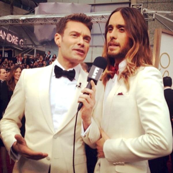 Ryan Seacrest, Jared Leto, Oscars, Instagram