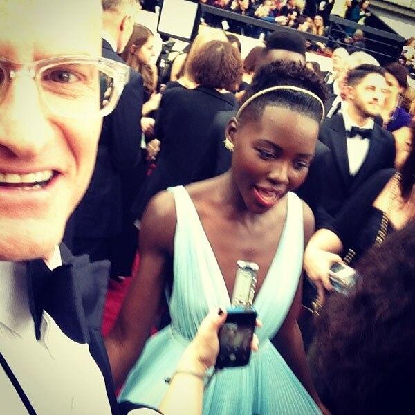 Lupita N'yongo, Marc Malkin, Oscars, Instagram