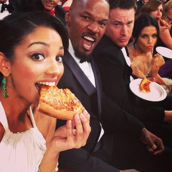 Celebrities Eating Pizza