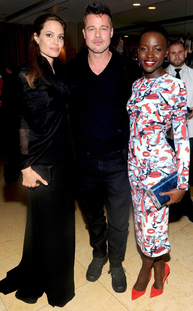 Lupita Nyong'o Celebrates Birthday With Brad Pitt and ... Brad Pitt And Angelina Jolie