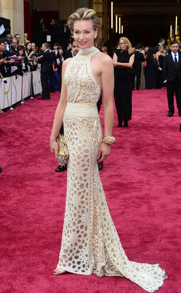 Portia de rossi from 2014 oscars red carpet arrivals e news for Portia de rossi wedding dress