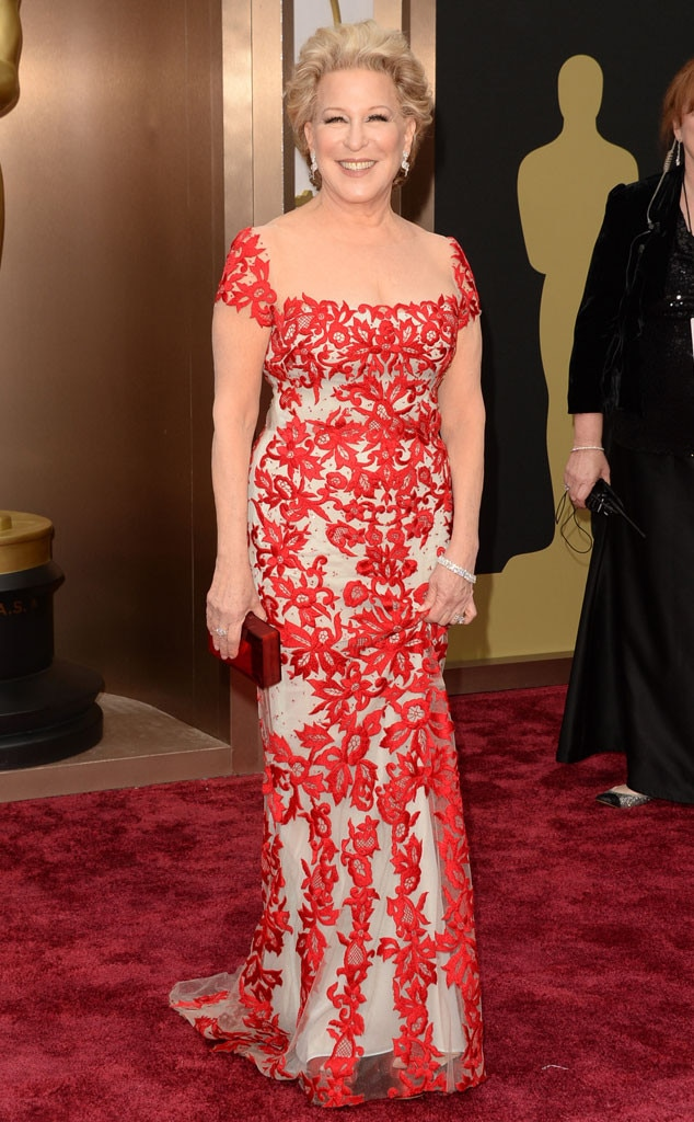 bette midler from 2014 oscars red carpet arrivals e news. Black Bedroom Furniture Sets. Home Design Ideas