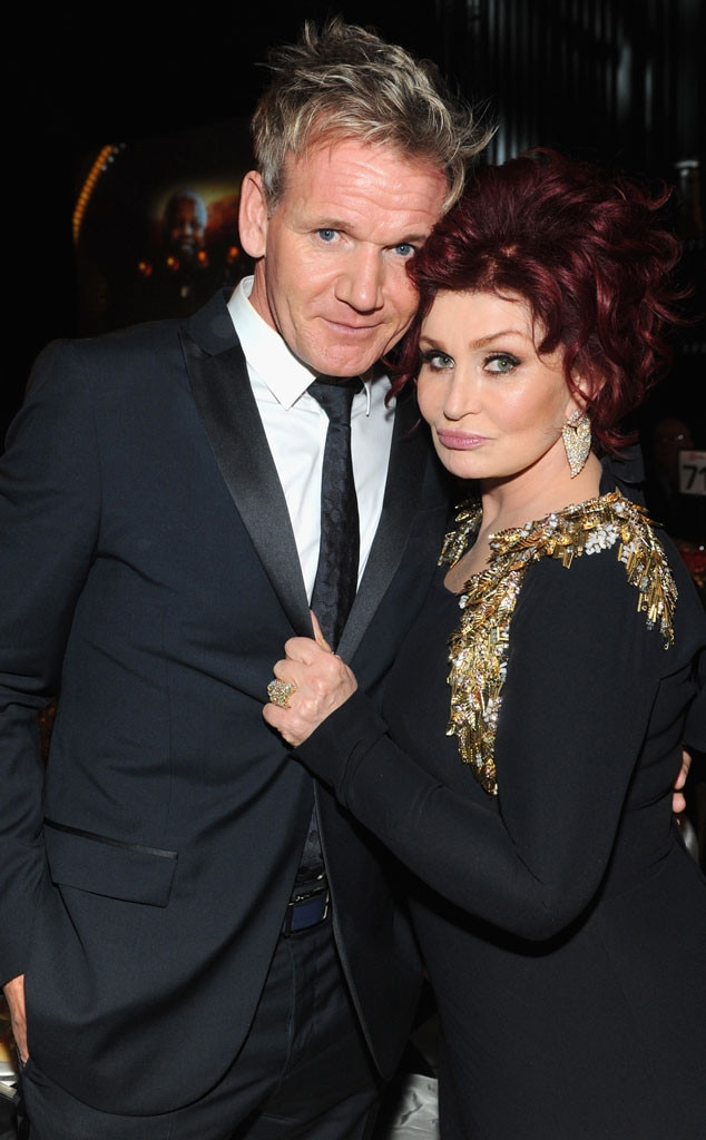 Gordon Ramsay, Sharon Osbourne, Oscars Elton John Party 2014