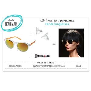 Get Crafty: Recreate Fendi's Spring 2014 Futuristic Cat Eye Sunglasses at Home