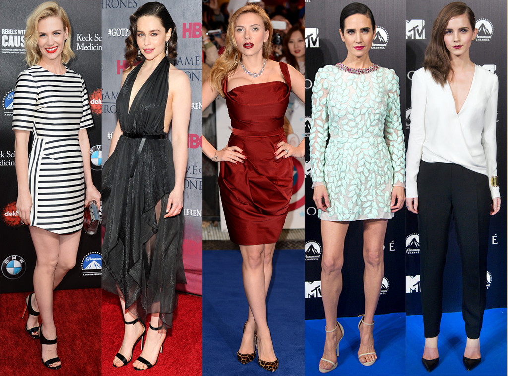 January Jones, Emilia Clarke, Scarlett Johansson, Jennifer Connelly, Emma Watson