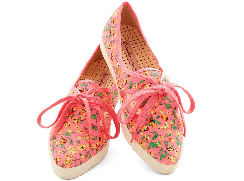 Spring Florals, Pink Sneaker