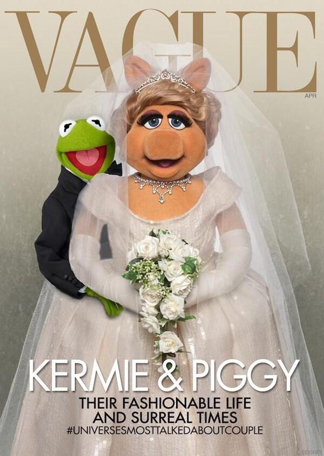 Miss Piggy, Kermit, Mupppets