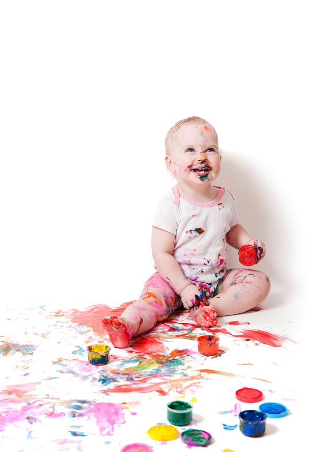 Baby Playing with Paint, Baby Gallery