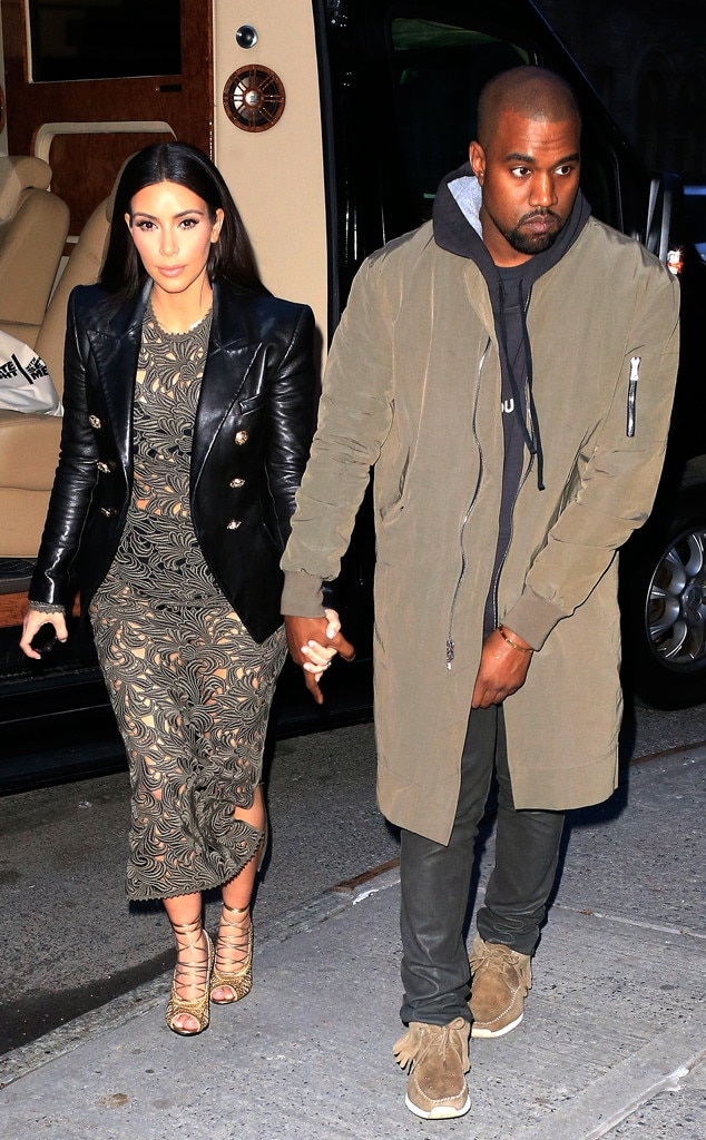 Kim Kardashian And Kanye West Wear Matching Balmain