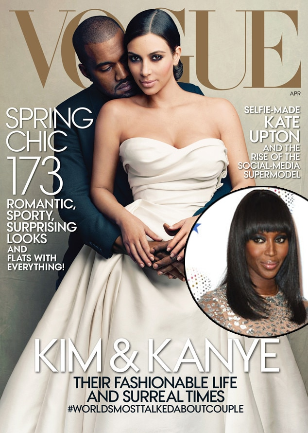 Kim Kardashian, Kanye West, Naomi Campbell, Vogue
