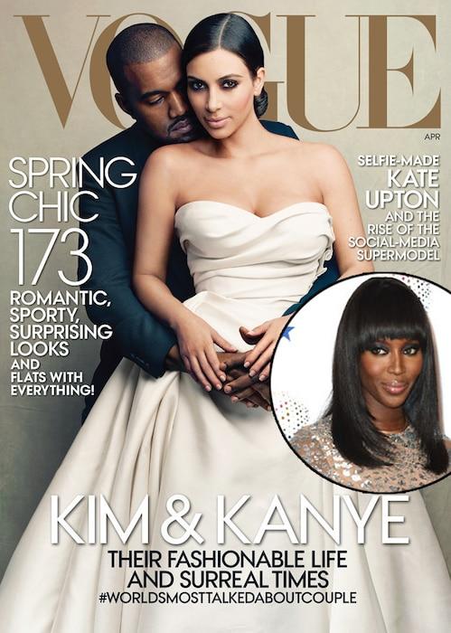 Kim Kardashian, Kanye West, Naomi Campbell, Vogue