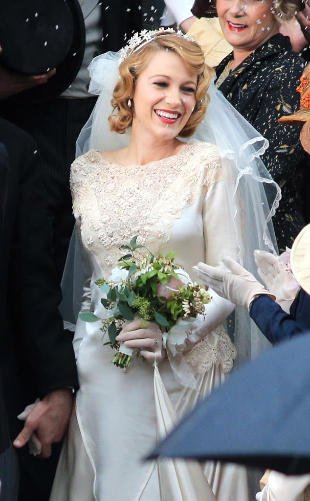 blake lively stuns in a wedding dress looks effortlessly