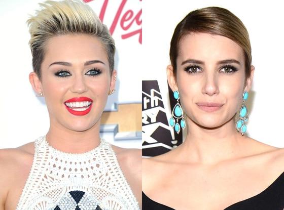 Miley Cyrus, Emma Roberts