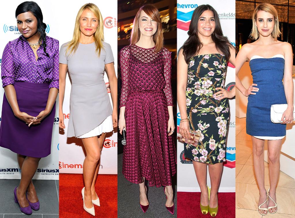 Cameron Diaz, Emma Stone, Mindy Kaling, Emma Roberts, America Ferrera