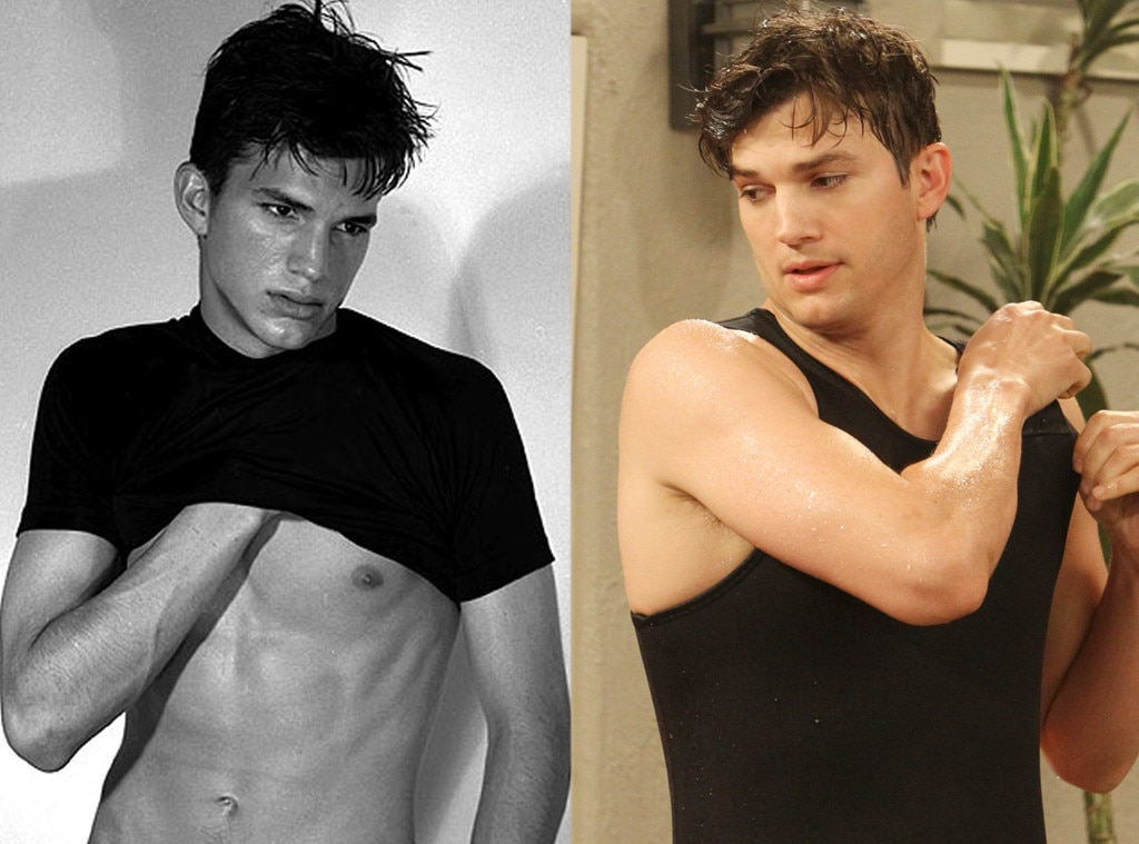 Ashton Kutcher, Modeling, Two and a Half Men