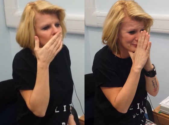 Deaf woman hears for first time