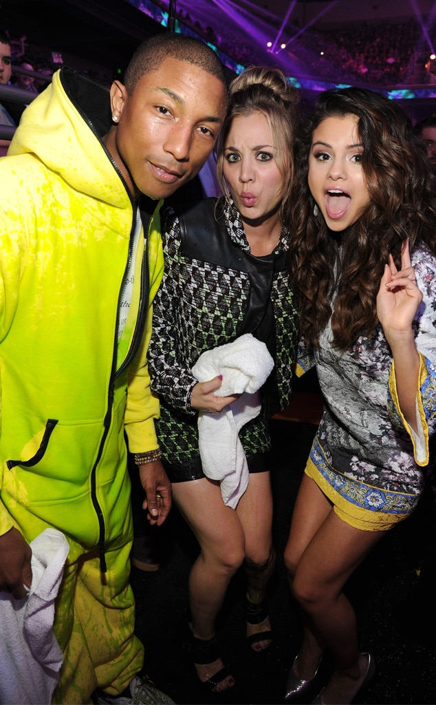 Pharrell Williams, Kaley Cuoco-Sweeting, Selena Gomez