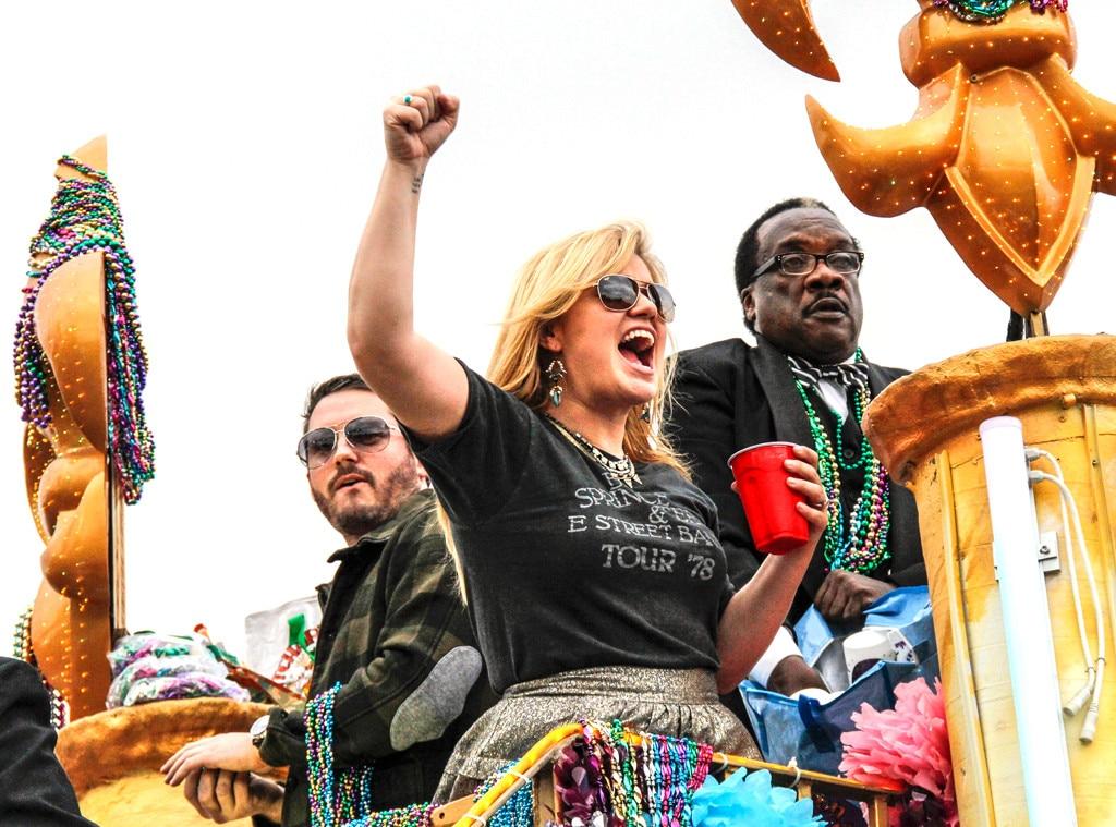 Kelly Clarkson, Brandon Blackstock, Mardi Gras