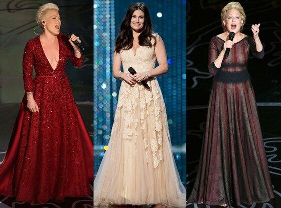 Pink, Idina Menzel, Bette Midler, Oscars Show