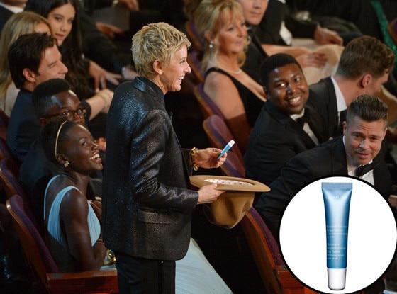 Lupita Nyong'o, Ellen DeGeneres, Oscars, Clarins Lip Balm