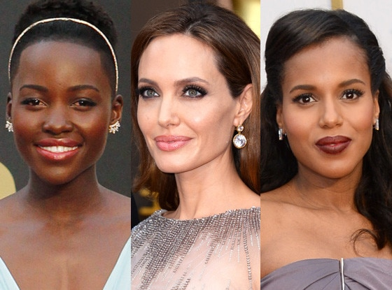 Lupita Nyong'o, Angelina Jolie, Kerry Washington, Beauty, Oscars