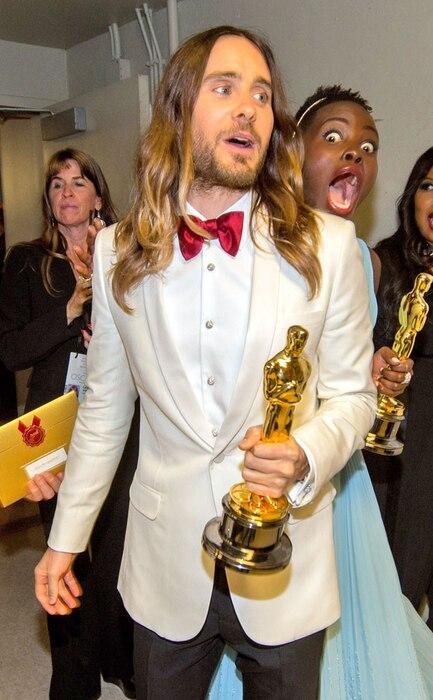 Lupita Nyong'o, Jared Leto, Oscars, Photobomb