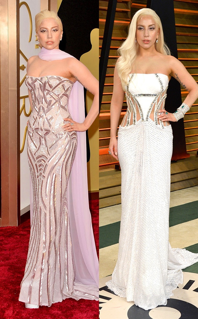 Lady Gaga, Oscars, After Party Dresses
