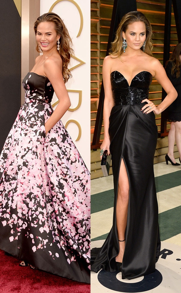 Chrissy Teigen, Oscars, After Party Dresses