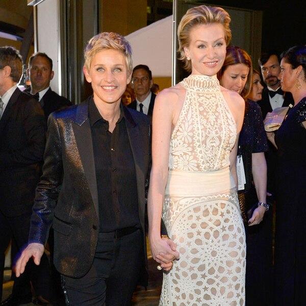 Ellen DeGeneres & Portia De Rossi From 2014 Oscars: Party