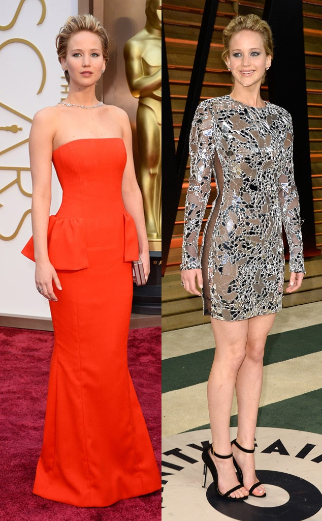 Jennifer Lawrence, Oscars, After Party Dresses