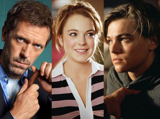 Hugh Laurie, Lindsay Lohan, Leonardo DiCaprio