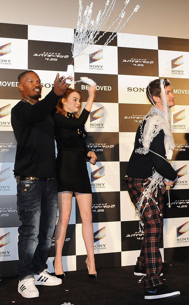 Emma Stone, Andrew Garfield, Jamie Foxx