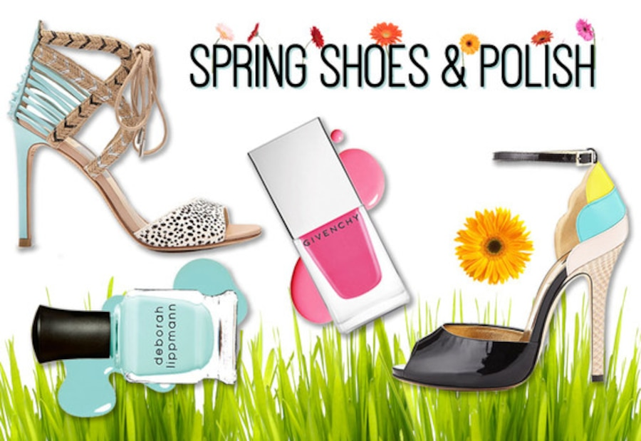 Spring Shoes & Polishes, Collage
