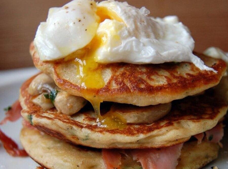 Baked Cheese and Mushroom, Pancakes