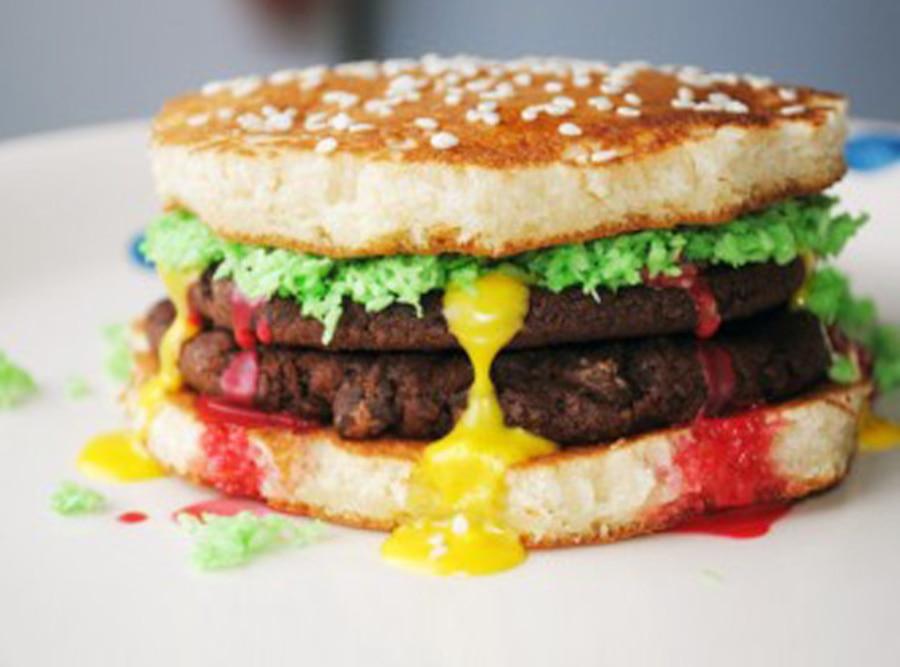 Burger, Pancakes