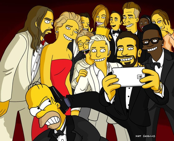 Ellen Selfie Recreations, The Simpsons