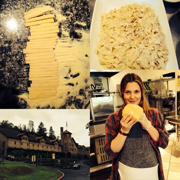 Incredible Drew Barrymore Learns How To Make Homemade Pasta At Culinary Hairstyles For Women Draintrainus