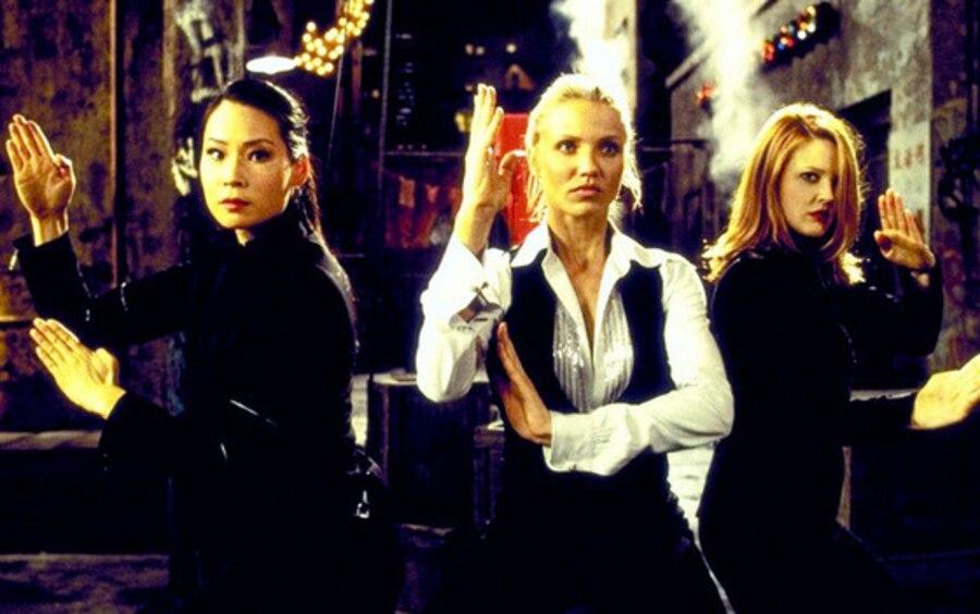Charlie's Angels, Drew Barrymore, Lucy Liu, Cameron Diaz, Famous Movie Heroines